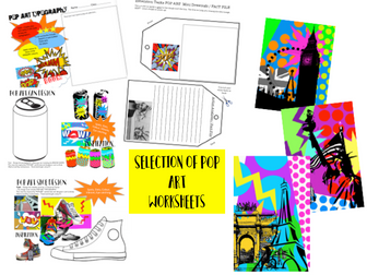 POP ART WORKSHEETS