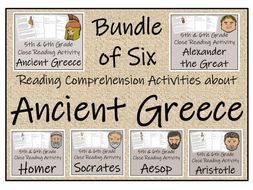 UKS2 History - Bundle of Six Reading Comprehension Activities about Ancient Greece