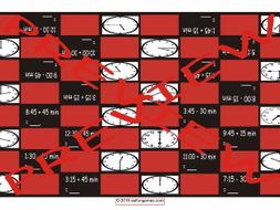 Telling Time Checker Board Game
