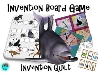 Board Game - Animals, Invention, Invention Quilt