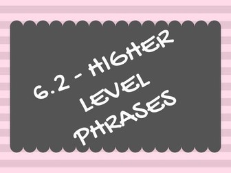Unit 6.2 (Healthy living/social issues) HIGHER LEVEL/SMASHED IT PHRASES
