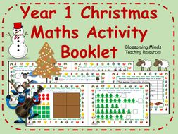 Year 1 Christmas Maths Activity Booklet
