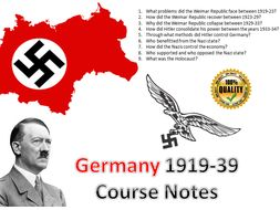 IB Authoritarian States Hitler's Germany Entire Course Notes - 52 pages