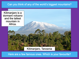Researching famous world mountains - KS2