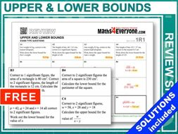 Upper and Lower Bounds (GCSE Topic Review)