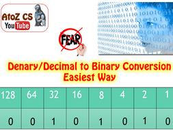 Convert Denary/Decimal numbers to 8-bit Binary - the easiest way