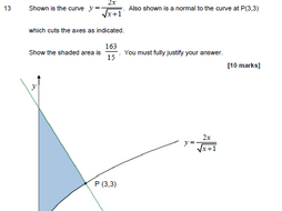 New Maths A Level 2019 - AQA style Practice Paper 1