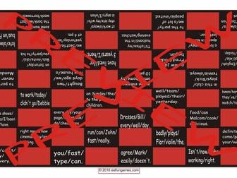 Word Order Checker Board Game