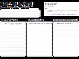 Final Evaluation Worksheet