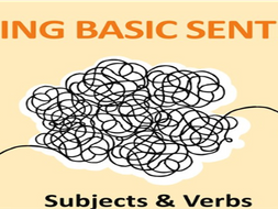 Building Basic Sentences - Subject + Verb + Object