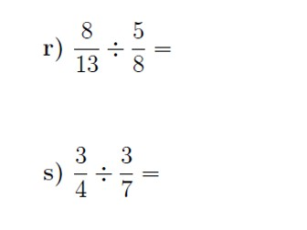 Dividing fractions worksheet (with solutions)