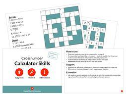 Calculator Skills (Crossnumber)