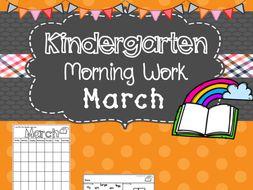 Kindergarten Morning Work (March)