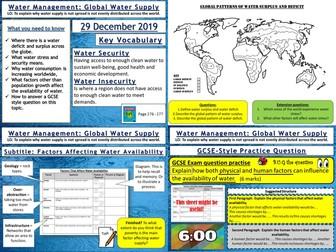 Water Management: Global Water Supplies
