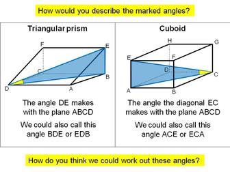 Trigonometry - 3D problems