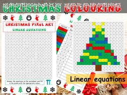 Christmas maths GCSE revision on linear equations