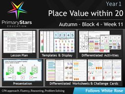 year 1 place value white rose week 11 block 4 autumn differentiated planning. Black Bedroom Furniture Sets. Home Design Ideas