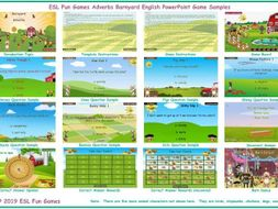 Adverbs Barnyard English PowerPoint Game