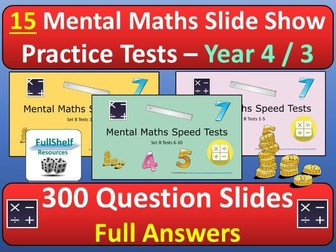 Mental Maths Tests Year 4