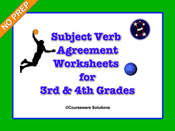Subject Verb Agreement Worksheets: 3rd & 4th Grades