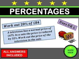 Percentages Revision GCSE