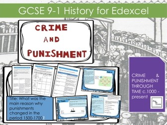 Edexcel  GCSE  Crime L13: What was the main reason why punishments changed in the period 1500-1700?