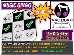 Christmas Games Music Bingo Bundle