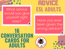 ESL Conversation for Adults: ADVICE - Engaging Conversation!
