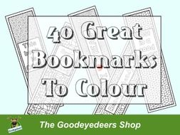 40 Great Bookmarks To Colour
