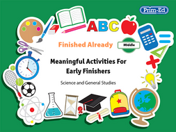 FINISHED ALREADY: SCIENCE AND GENERAL STUDIES - MIDDLE UNIT (Y3/P4, Y4/P5)
