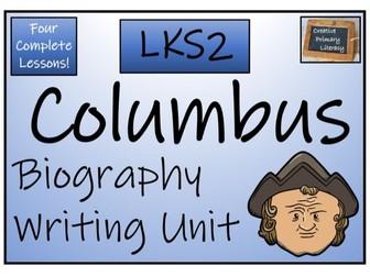 LKS2 History - Christopher Columbus Biography Writing Activity