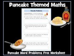 Pancake Day Maths Word Problems