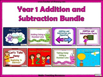 Year 1 Addition and Subtraction Bundle
