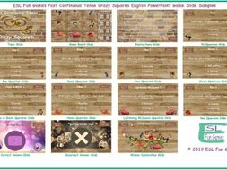 Past Continuous Tense Crazy Squares Interactive English PowerPoint Game