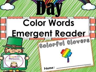 St. Patrick's Day Emergent Reader: Color Words!