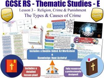 The Causes of Crime [GCSE RS - Religion, Crime & Punishment L3/10] Theme E