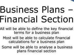 Do financial section business plan