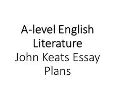 Health Essays Alevel English  John Keats Essay Plans High School Reflective Essay also Argument Essay Paper Outline Alevel English  John Keats Essay Plans By Clbrewster  Essay About Science And Technology