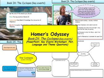 Homer's Odyssey Book IX: The Cyclopes (key events)
