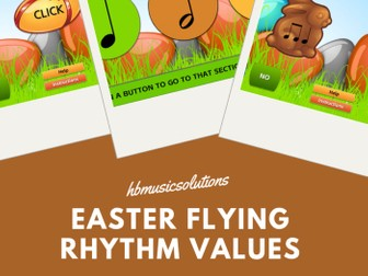 Easter Flying Rhythm Values - Interactive Music Game
