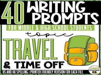 Daily Writing Prompts | Travel | Middle and High School