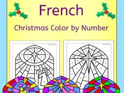 French Christmas Color by Number