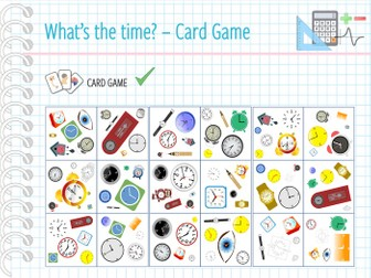 Telling the time - Card game