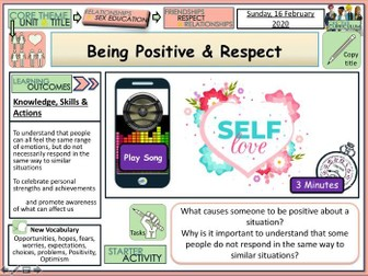 Positivity + Respect - PSHE RSE