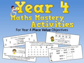 Place Value Mastery Activities – Year 4