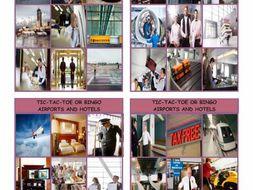 Airports and Hotels Tic-Tac-Toe or Bingo