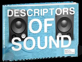 Descriptors of Sound - POSTER-A3