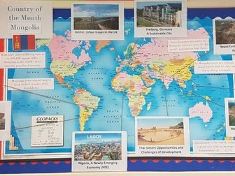 Geography classroom displays by awoods24 teaching resources tes country of the month display gumiabroncs Choice Image