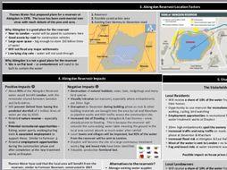AQA Abingdon Reservoir Issue Evaluation Knowledge Organiser