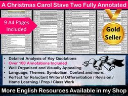 A Christmas Carol Stave Two Fully Annotated